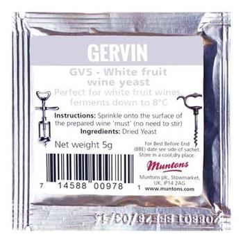 Дрожжи винные Gervin Yeast GV5 - White fruit 30065