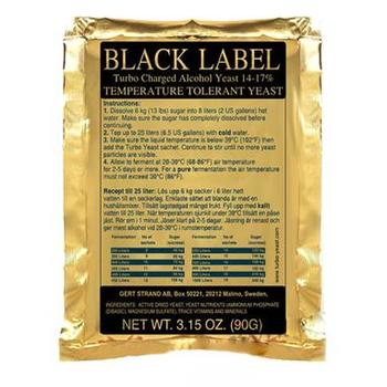 Турбо дрожжи Black Label Turbo yeast 14% Prestige 22665 PR