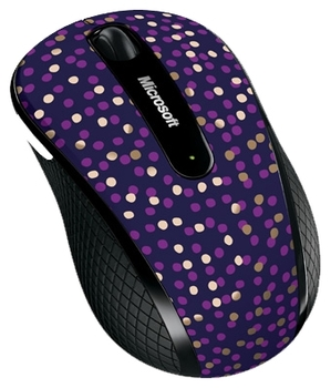 Microsoft Wireless mobile mouse 4000 Eggplant Dot wireless Mobile USB Mac/Win (D5D-00116)