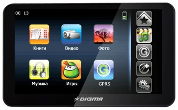 "GPS навигатор Digma DS505N 5"" 800*480 Atlas V GPRS 2Gb Nav5"